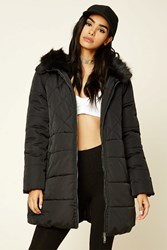 Forever 21 Quilted Hooded Puffer Jacket
