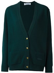 Burberry Vintage V Neck Cardigan Green