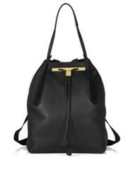 The Row Pebbled Leather Backpack 11 Black