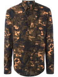 Versus Camouflage Print Shirt Green