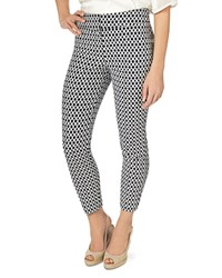 Phase Eight Erica Oval Jacquard Pants Navy Ivory