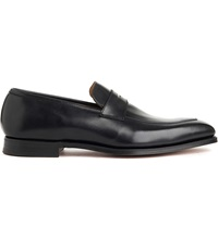 Crockett Jones Merton Apron Loafers Black