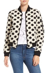Obey Women's 'La Ruine' Polka Dot Wool Blend Bomber Jacket