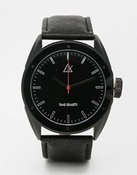 Asos Watch In Black With Chunky Face Black