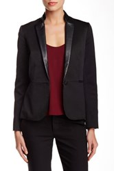 Zadig And Voltaire Victana Genuine Leather Trim Bf Jacket Black