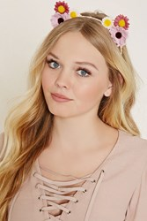 Forever 21 Floral Cat Ears Headband