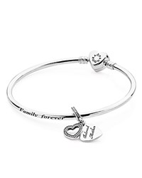 Pandora Design Pandora A Mother's Love Bangle Gift Set Moments Collection Silver
