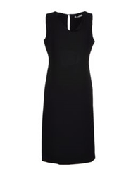 Gio' Moretti Knee Length Dresses Black