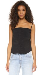 Marques Almeida Camisole With Unfinished Hem Black