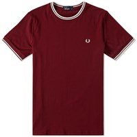 Fred Perry Tipped Ringer Tee Red