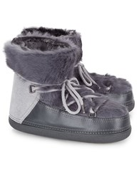 Inuikii Grey Rabbit Fur Winter Boots