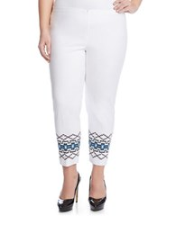 Karen Kane Plus Tribal Print Pants White