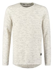 Solid Dahl Long Sleeved Top Milky White Mottled Light Grey
