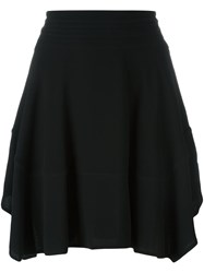 Diesel Black Gold Ruffled Skirt Black