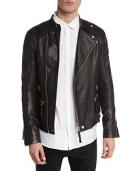 Helmut Lang Basic Rider Leather Moto Jacket Black