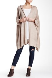 Dreamers By Debut Oversized Hooded Dolman Cardigan Brown