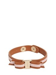 Salvatore Ferragamo Single Strap Leather Bracelet