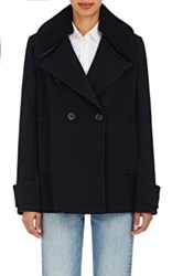 Each X Other Women's Fur Collar Wool Peacoat Navy