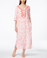Charter Club Embroidered Paisley Print Long Caftan Only At Macy's