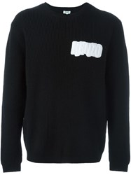 Kenzo Logo Patch Ribbed Jumper Black
