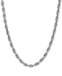Macy's Rope Chain Necklace In 10K White Gold