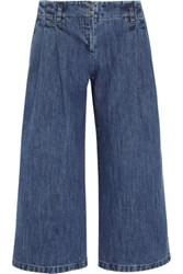 Michael Kors Collection Denim Culottes Mid Denim