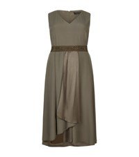 Marina Rinaldi Asymmetric Crepe Dress Female Green