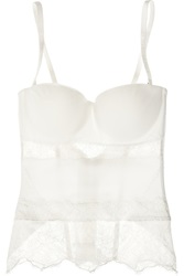 La Perla Shape Allure Stretch And Lace Corset White