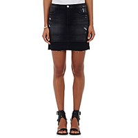 J Brand Women's Denim Leila Miniskirt Dark Grey
