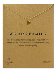 Dogeared We Are Family Open Heart Necklace Gold