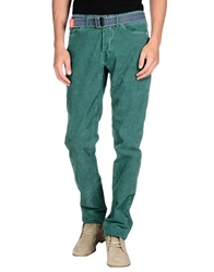 Jaggy Casual Pants Green