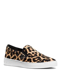 Michael Michael Kors Keaton Cheetah Print Calf Hair Slip On Sneakers