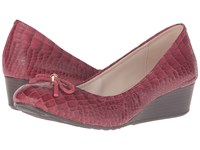 Cole Haan Tali Grand Lace Wedge 40 Tango Red Croc Print Women's Slip On Shoes