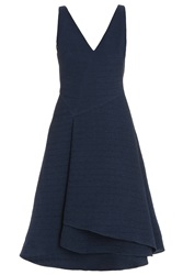 Jason Wu V Neck Silk Gauze Flounce Dress