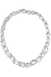 Alexis Bittar Silver Tone Crystal Necklace