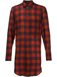 Ann Demeulemeester Checked Back Shirt Red
