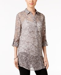 Jm Collection Petite Printed Tunic Shirt Only At Macy's Lace Beauty