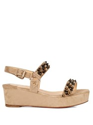 Christian Louboutin Bikee Deck Spike Suede 60Mm Flatform Sandals