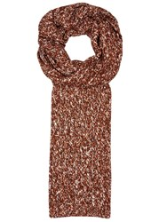 Solid Homme Brown Melange Chunky Knit Scarf Terracotta