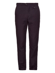 Oliver Spencer Fishtail Straight Leg Cotton Blend Trousers