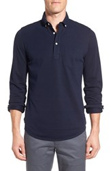 Bonobos Men's Slim Fit Long Sleeve Pique Polo Midnight Blue