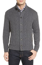 Luciano Barbera Men's Cashmere Cable Knit Cardigan