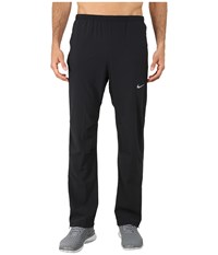 Nike Dri Fit Stretch Woven Pants Black Black Reflective Silver Men's Workout