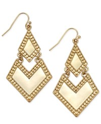 Inc International Concepts Gold Tone Chevron Double Drop Earrings Only At Macy's