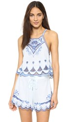 Somedays Lovin Azul Cutwork Cami Blue
