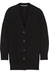 Rosetta Getty Oversized Wool And Cashmere Blend Cardigan Black