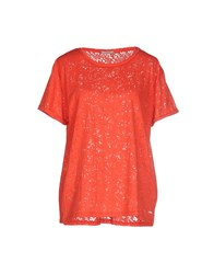 40Weft Topwear T Shirts Women Red