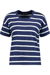 Rag And Bone Suzanne Striped Cotton Jersey T Shirt Navy