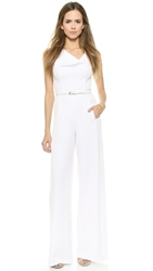 Black Halo Jackie Jumpsuit White