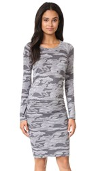 Monrow Camo Baseball Dress Granite